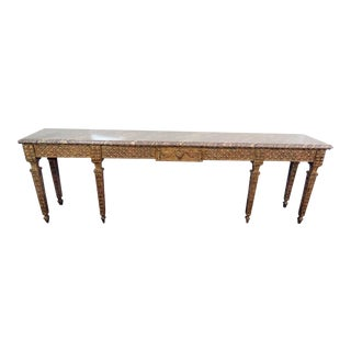 Jansen Style Marble Top Console