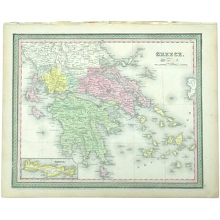 Circa 1850 Cowperthwait Greece & Candia Engraving For Sale