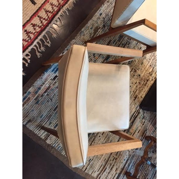 White Vintage French Thonet Armchairs - A Pair For Sale - Image 8 of 9