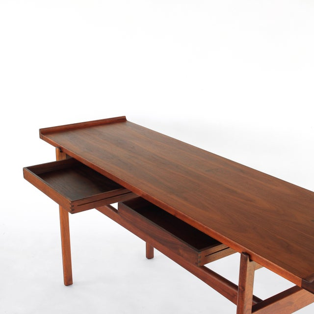 Jens Risom 1960s Danish Modern Jens Risom Console Table With 2 Drawers For Sale - Image 4 of 12