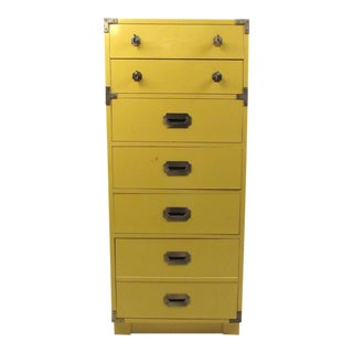 Vintage Modern Campaign Style Chest of Drawers