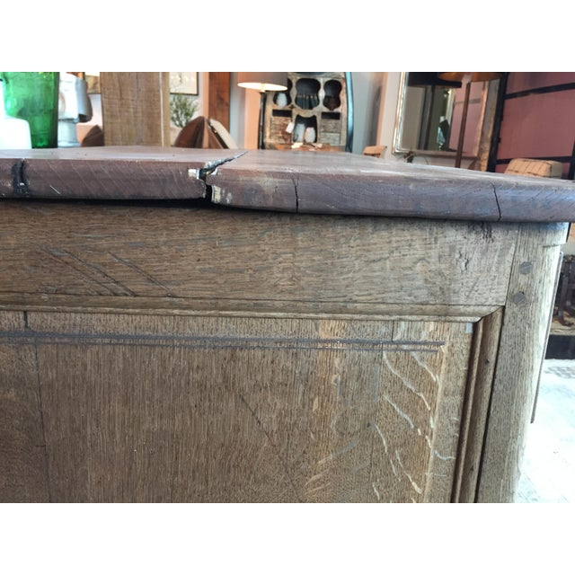 Metal Late 18th Century French Bleached Oak Three Drawer Commode For Sale - Image 7 of 10