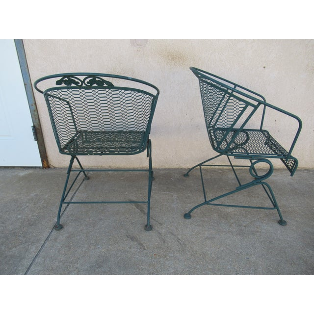 Vintage Spring Patio Dining Chairs - Set of 4 For Sale - Image 11 of 13