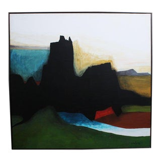 Late 20th Century Abstract Landscape Oil Painting on Canvas by Charles Rolwing For Sale