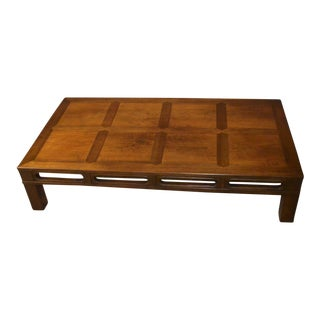 Heritage Large Vintage Asian Style Coffee Table For Sale
