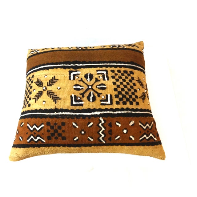 African Mud Cloth Pillow - Image 8 of 8