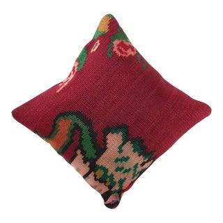 Vintage Red Colored Kilim Cushion