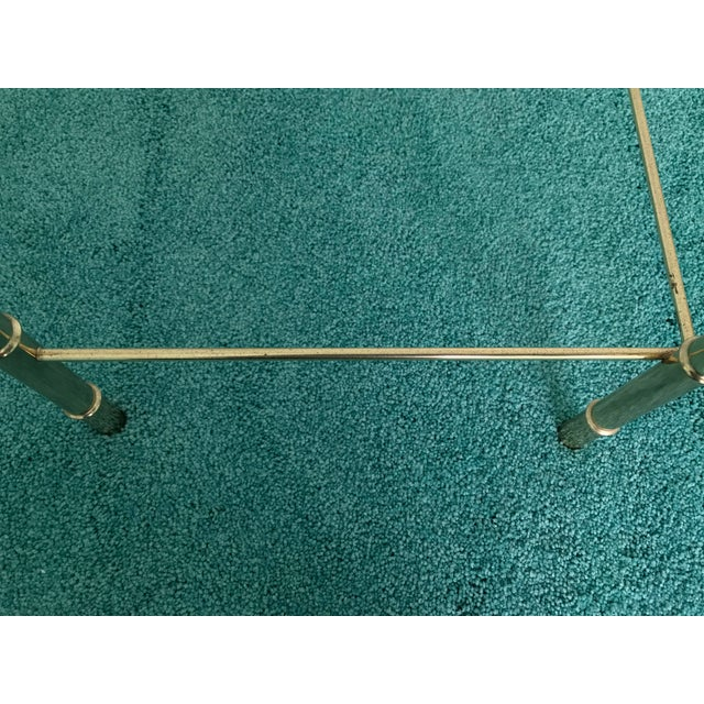 Vintage Glass Top and Metal Nesting Tables- Set of 3 For Sale - Image 12 of 13