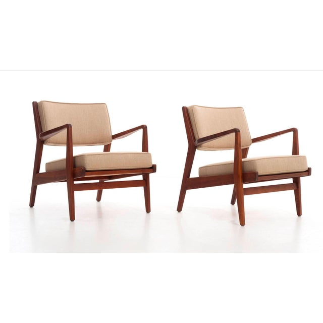 Mid-Century Modern Jens Risom Lounge Chairs For Sale - Image 3 of 13