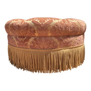 Neiman Marcus Horchow Collection Tufted Ottoman For Sale