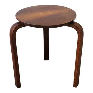 European Bentwood Stool or Side Table after Designer Alvar Aalto For Sale