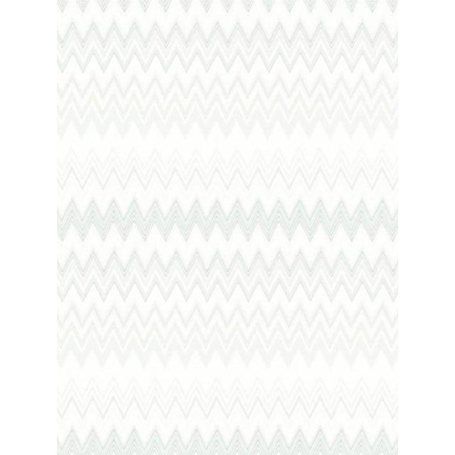 Scalamandre Zig Zags, Silver Wallpaper For Sale