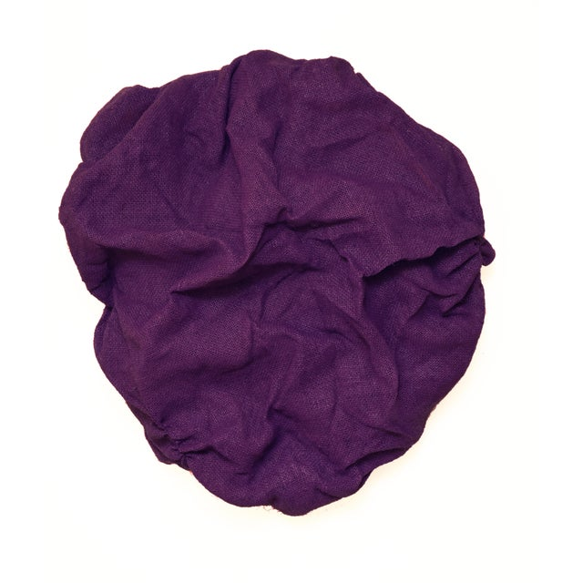 """""""Plum Folds"""" Mixed Media Wall Sculpture by Chloe Hedden For Sale - Image 9 of 9"""