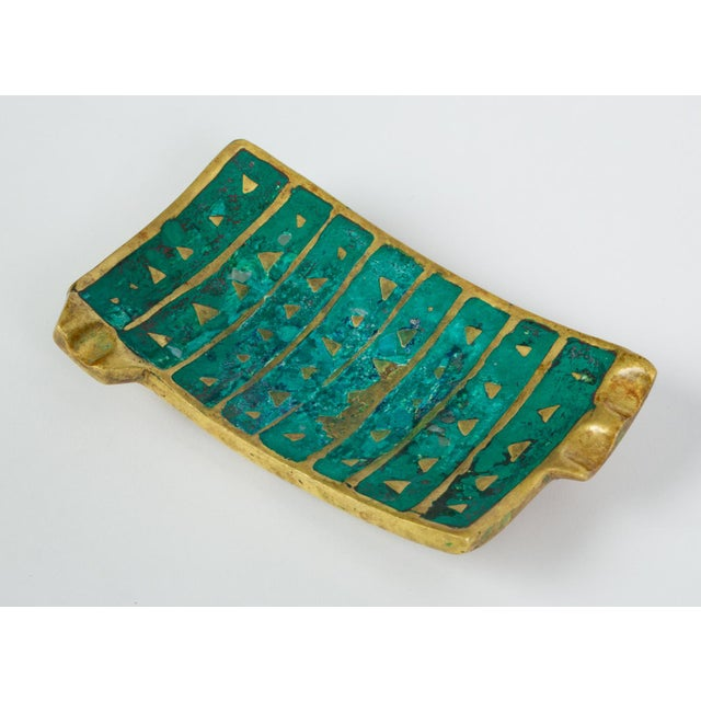 1950s Mexican Modern Cloisonné Ashtray by Pepe Mendoza For Sale - Image 5 of 11