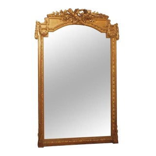 Napolean III Gilt Mirror For Sale