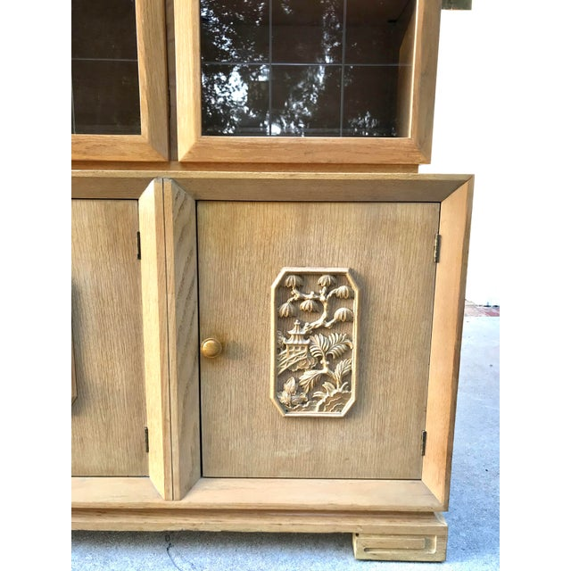Mid-Century Chinoiserie Glass Front Cabinet - Image 3 of 8