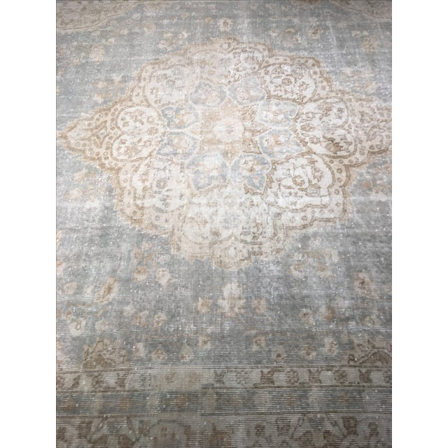 "Distressed Turkish Oushak Rug - 9'5"" X 12'8"" - Image 3 of 9"