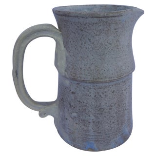 Mid Century Signed Studio Pottery Pitcher