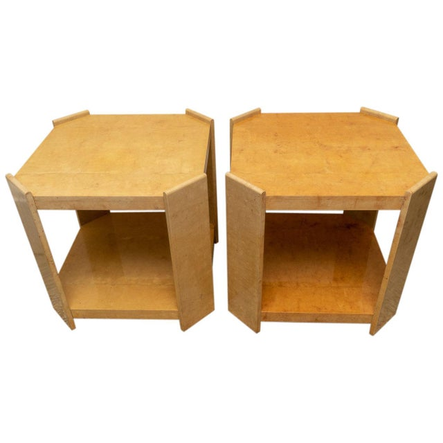 Modern Goatskin End Tables - a Pair For Sale - Image 10 of 10