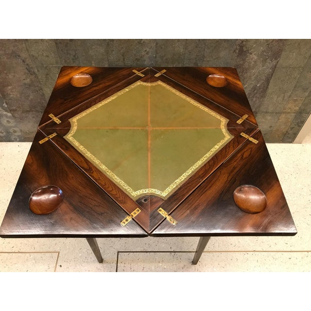 Wood French Rosewood Inlay Handkerchief Game Table For Sale - Image 7 of 8