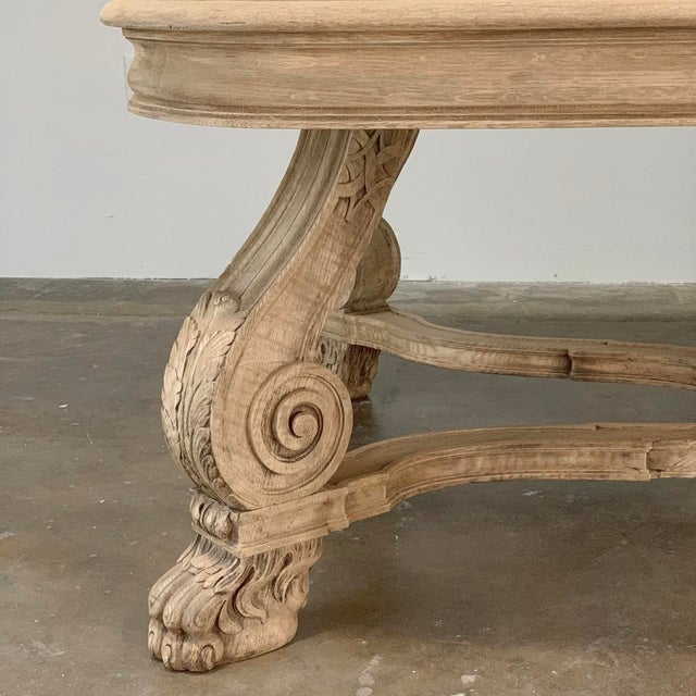 Antique Louis XIV Stripped Parquet Coffee Table For Sale - Image 9 of 13