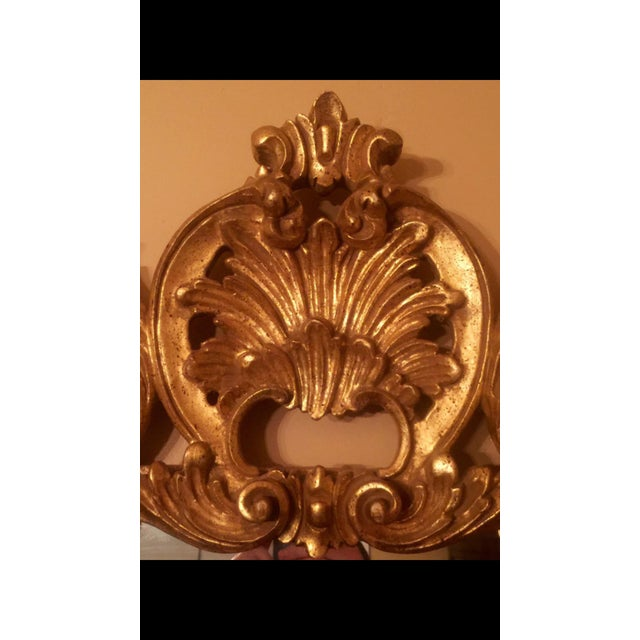 Gold Gilt Ornate Wood Wall Mirror - Image 5 of 6