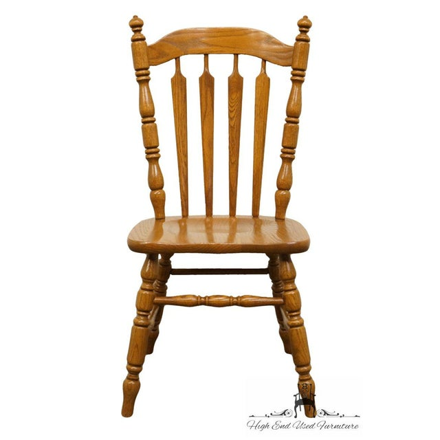 Terrific Tell City French Country Solid Oak Dining Side Chair Evergreenethics Interior Chair Design Evergreenethicsorg
