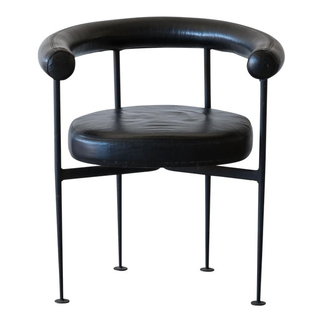 Elegant French Curved-Form Desk Chair, France, 1950s For Sale