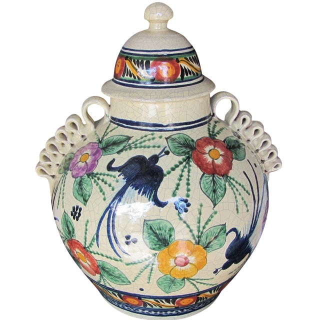 Mexican Pottery Decorative Jar - Image 1 of 9