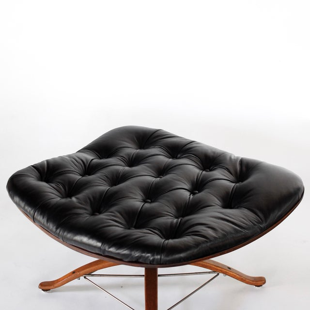 1960s Vintage 1st Edition Mr Chair by George Mulhauser for Plycraft Leather Lounge Chair For Sale - Image 10 of 12