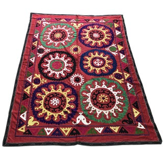 Vintage Suzani Bed Cover For Sale