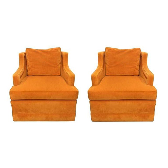 Beautiful pair of armchairs designed by Edward Wormley and manufactured by Dunbar. Six are available. These chairs are...