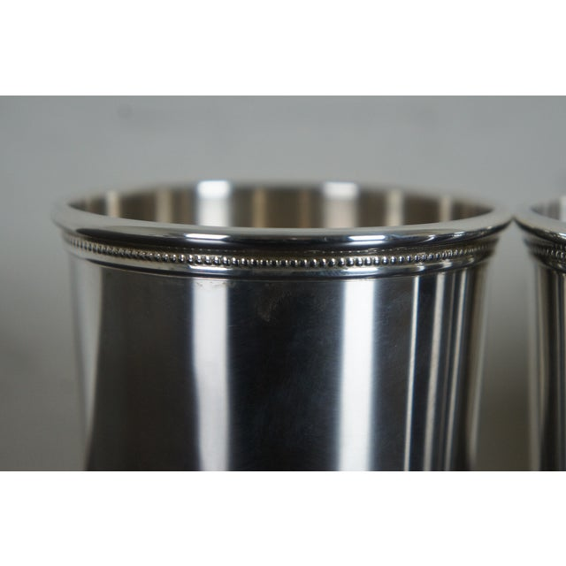 Sterling Silver Mark J Scearce Presidential Mint Julep Cups Richard Nixon Rmn - Set of 3 For Sale - Image 6 of 13