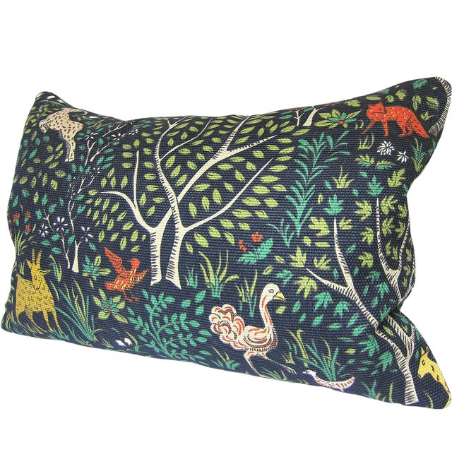 Robert Allen Folkland Fabric Custom Pillow Cover For Sale