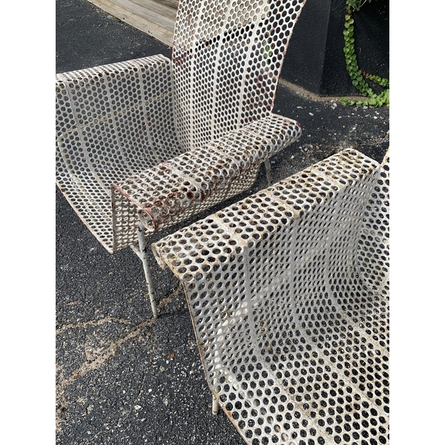 Metal French Garden Chairs - Set of 4 For Sale - Image 7 of 10