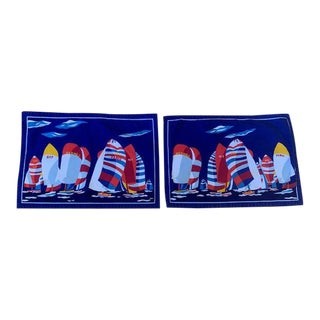 Hermes Paris Cotton Yachting Regatta Placemats - a Pair For Sale