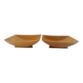 Mid-Century Modern Glenwood Bent Plywood Catch All Bowls - a Pair