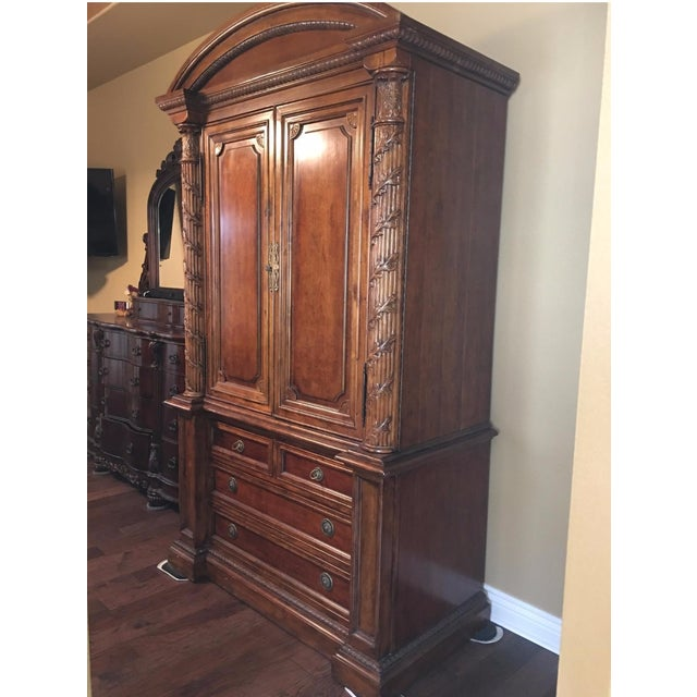 Traditional Hekman 2-Piece Armoire For Sale - Image 3 of 6