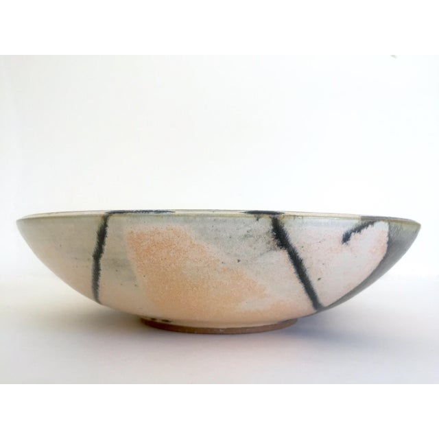 Various Artists Vintage Mid Century Modern Studio Pottery Abstract Expressionist Signed Ceramic Bowl For Sale - Image 4 of 13