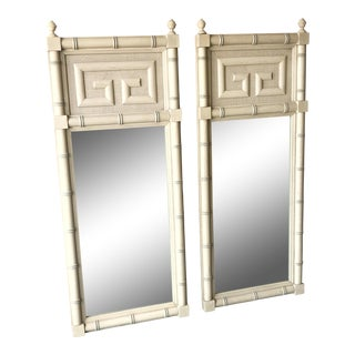Dixie Furniture Greek Key Mirrors - A Pair For Sale