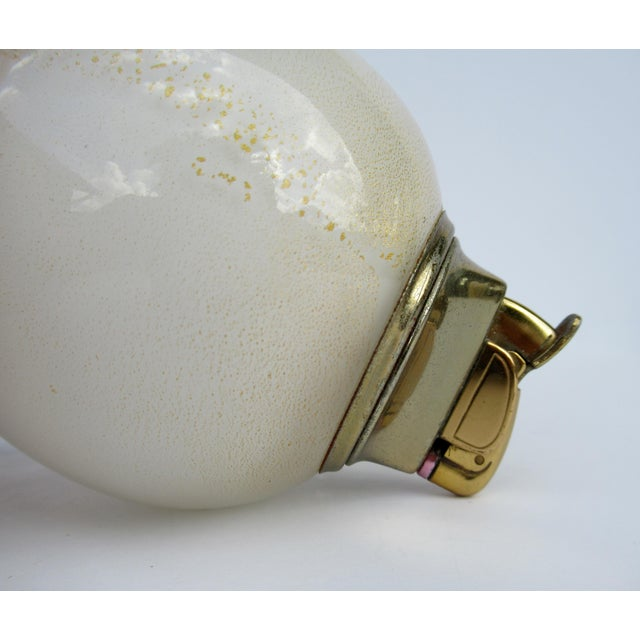 Yellow Vintage C.1950s Alfredo Barbini Handblown Murano Lighter For Sale - Image 8 of 13