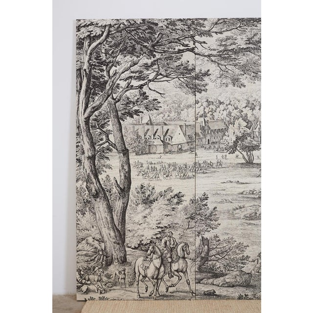 French Provincial Toile De Jouy Textile Panels For Sale - Image 4 of 13