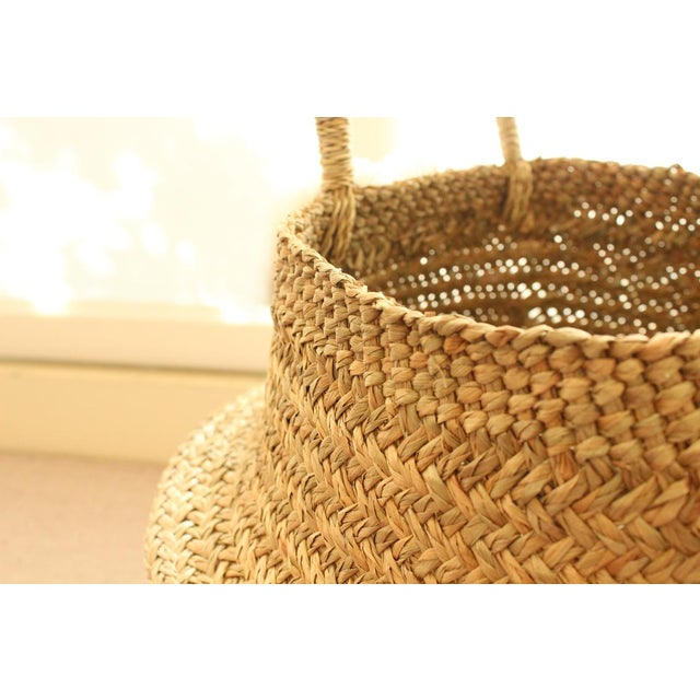 Natural Double Woven Balinese Sea Grass Basket | Chairish