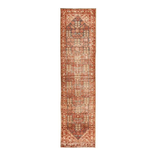 "Apadana-Antique Persian Distressed Rug, 3'4"" X 13'7"" For Sale"