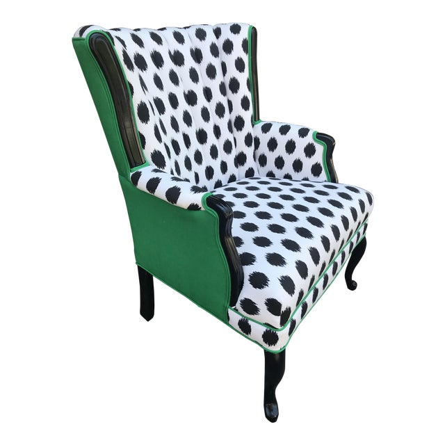 Vintage Modern Funky Ikat Chair For Sale