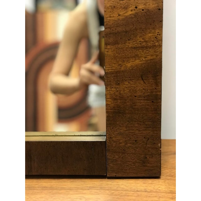Mid-Century Modern Brutalist Hanging Mirror For Sale In Los Angeles - Image 6 of 10