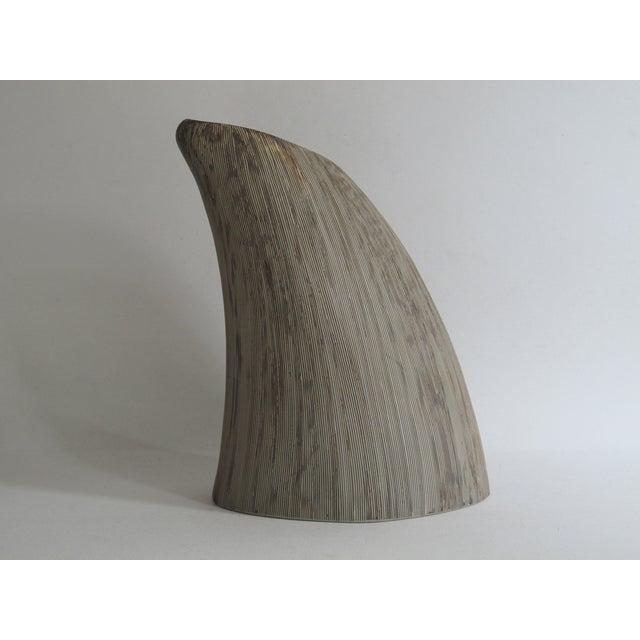Asymmetrical Sgraffito Line Ceramic Vase - Image 3 of 6