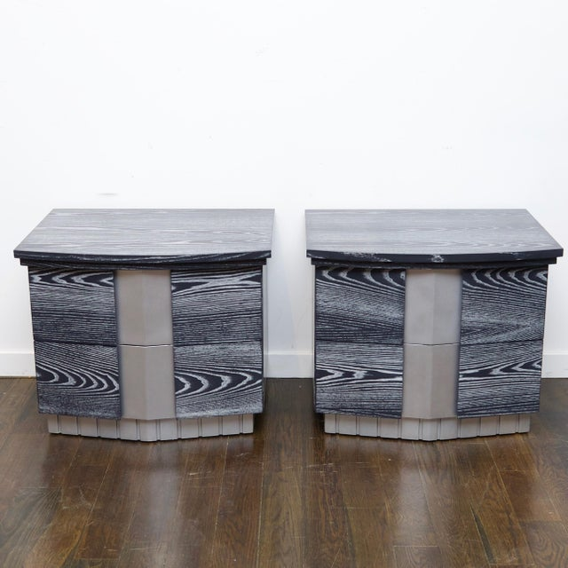 Pair of Cerused End Tables/Night Tables For Sale - Image 11 of 11