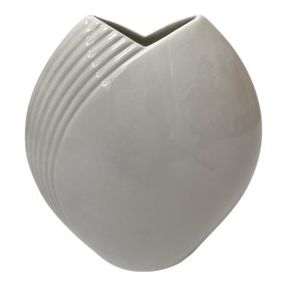 Modern Contemporary White Vase by Christopher Stuart For Sale