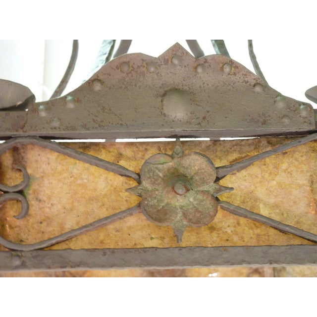 Early 20th Century Arts & Crafts Hexagonal Chandelier For Sale - Image 5 of 6
